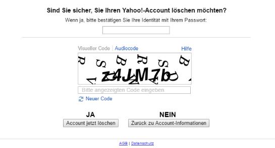 如何删除您的Yahoo帐户