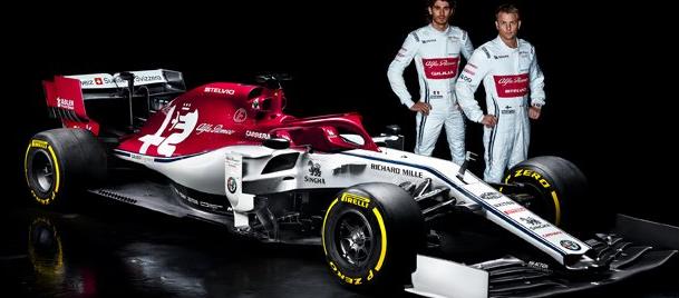 阿尔法罗密欧发布其新的阿尔法罗密欧赛车C38 F1汽车