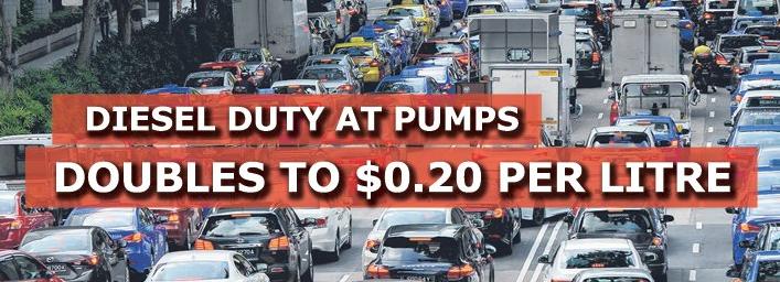 泵的柴油税增加一倍 至每升0.20美元