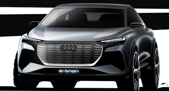 奥迪Q4 e-tron概念车首次亮相日内瓦车展