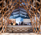 Gabinete de Arquitectura展示格子砖拱门作为低成本建筑的典范