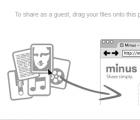 Minus为访客和网站的注册成员提供文件共享