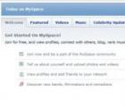 MySpace登录页面直接位于MySpace主页上