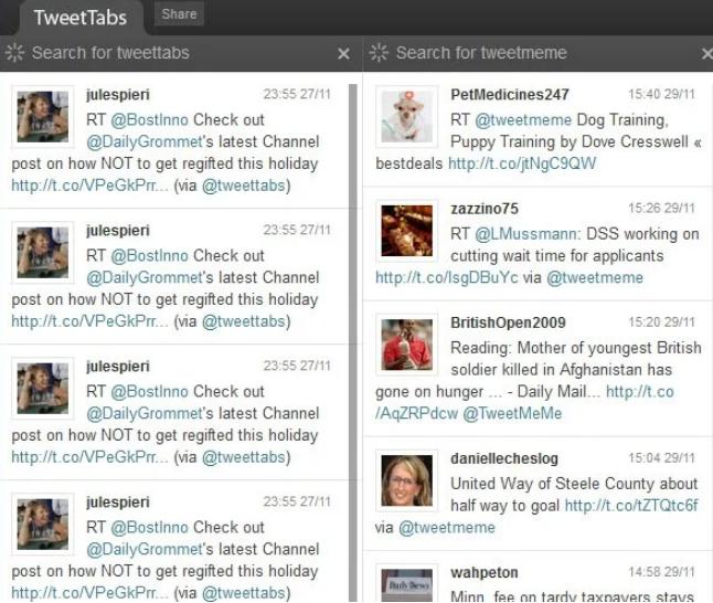 Tweet Scan使得可以在Twitter上实时搜索关键字