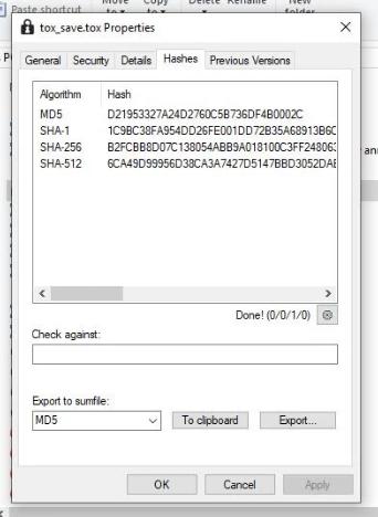 从带有OpenHashTab shell扩展名的Explorer菜单中检查文件哈希