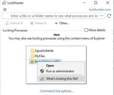 LockHunter的开发人员称这是一种方便的工具