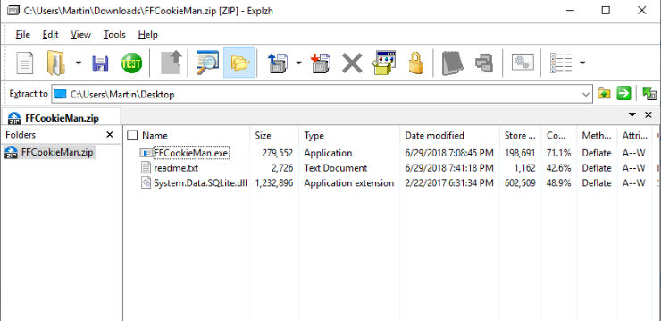 Explzh是一款免费软件 适用于Microsoft Windows操作系统