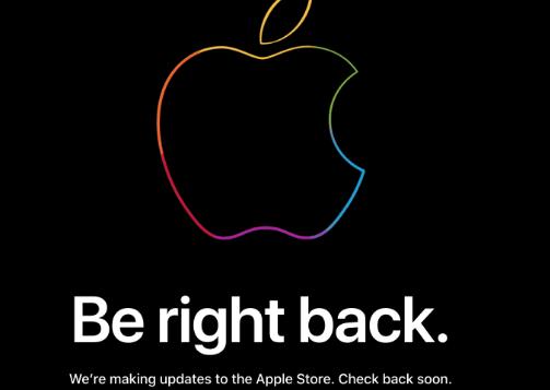 苹果的在线商店关闭了