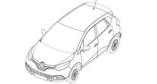 雷诺Captur生产版本在设计草图中显示