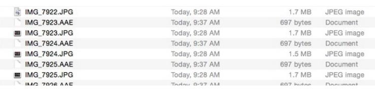 苹果为iOS 8照片使用新的AAE sidecar格式吗