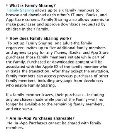 苹果透露更多家庭共享细节