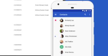 适用于Android的Google联系人更新了一系列新功能