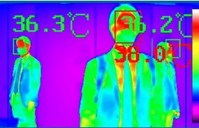大山鸢尾在4月15日发布了一款圆顶状AI热像仪