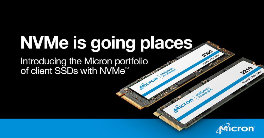 美光宣布推出高性能的2300 NVMe SSD系列