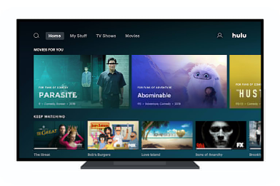 Hulu正在向Apple TV和Roku用户推出新的主屏幕