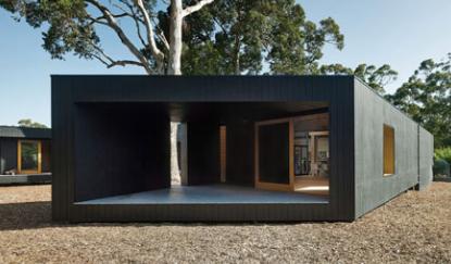 MORQ的KarriLoopHouse围绕三棵澳大利亚原住民树种折叠